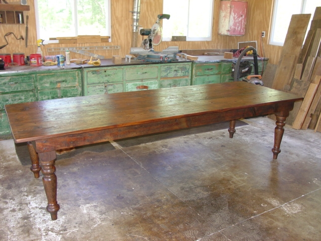 Narrow farm table