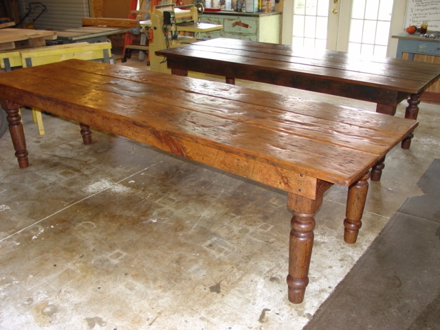 Primitive , Rustic Custom Harvest Table Farmhouse Table 10 Ft X 36 With  Hand Turned Katrina Legs