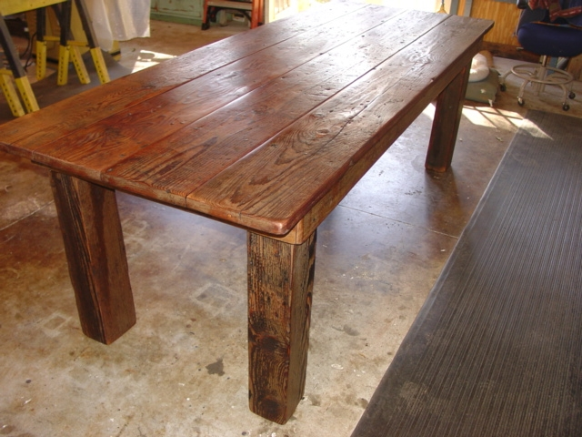 Rustic Farm Table With Vintage Beams 8ft X 36 30